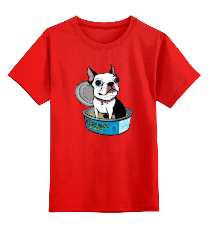 Купить 0000000728409, Детская футболка Printio Моя любимая...сардинка... цв.красный р.104,