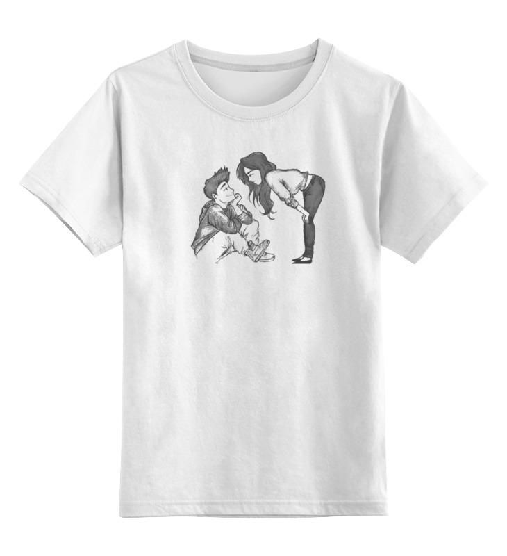 0000000739339, Детская футболка Printio Любовь цв.белый р.116,  - купить со скидкой
