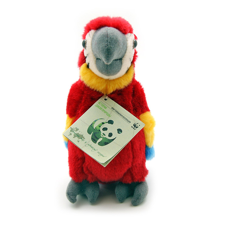 Мягкая игрушка Красный попугай WWF 18 см