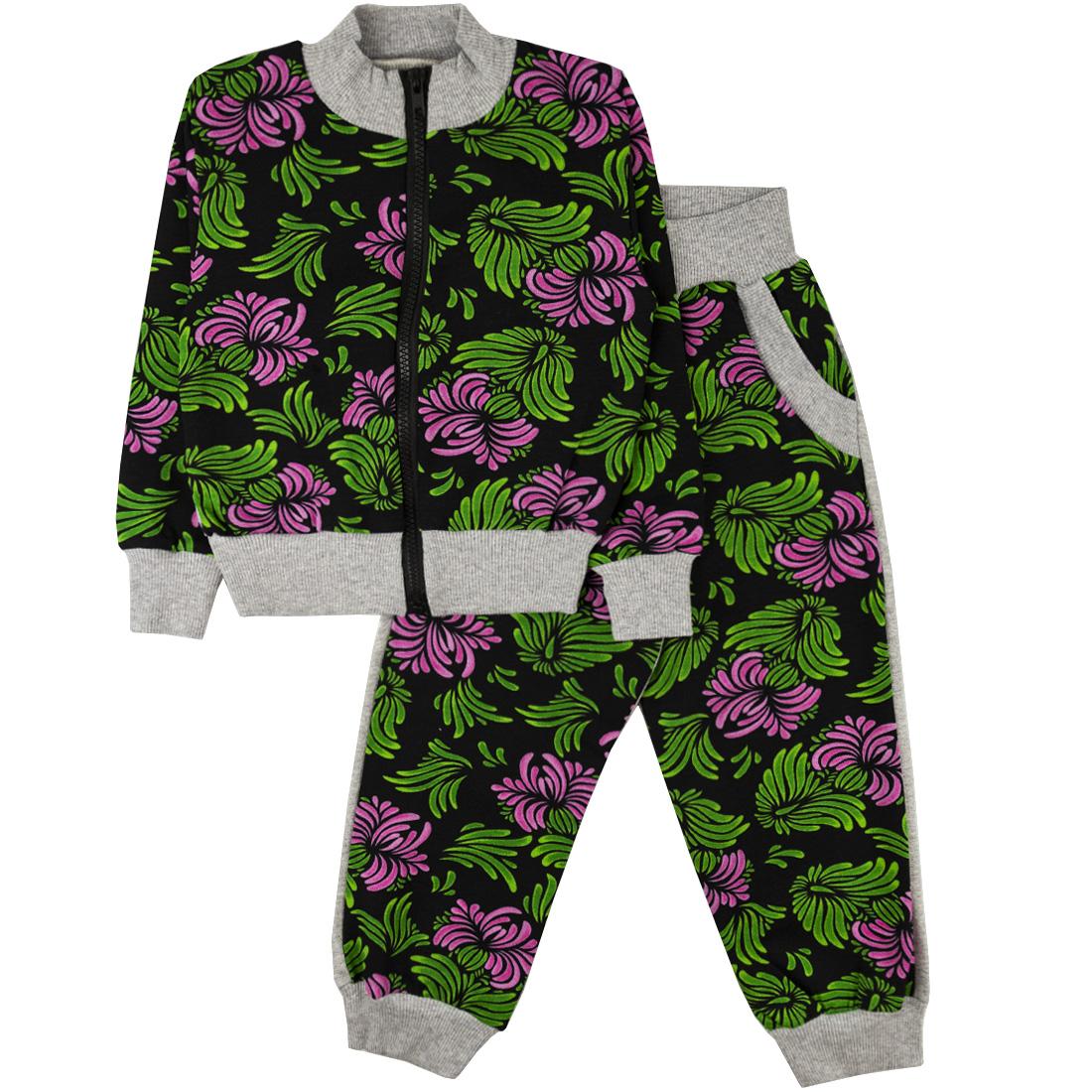 Спортивный костюм Юлла 335фд цв.зеленый  р.110
