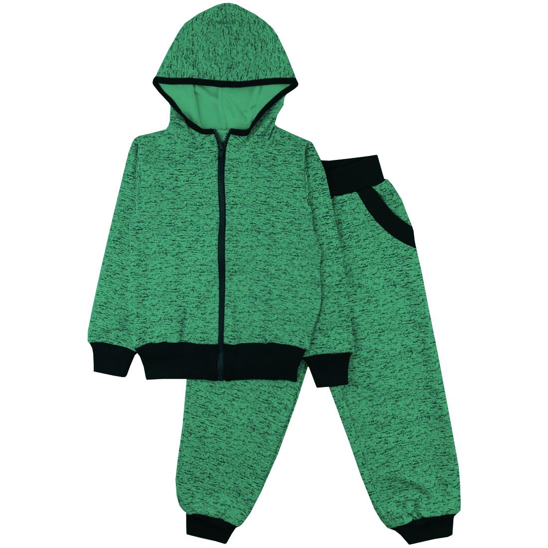 Спортивный костюм Юлла 337ФД цв.зеленый  р.110