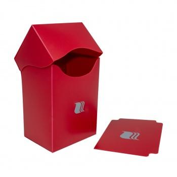 Пластиковая коробочка Blackfire вертикальная красная, 80+ карт