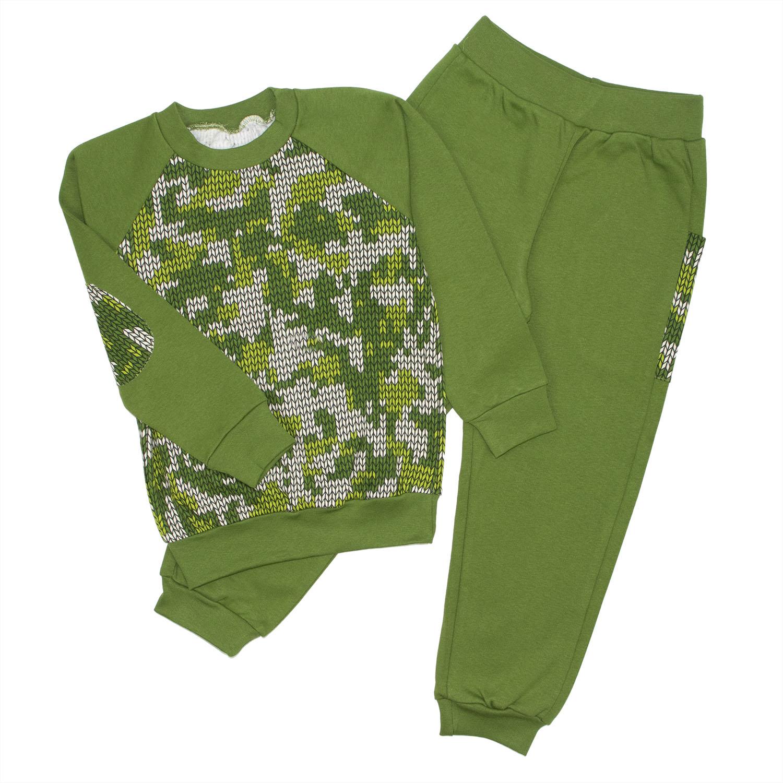 Спортивный костюм для девочек Юлла 482и цв. зеленый  р.110