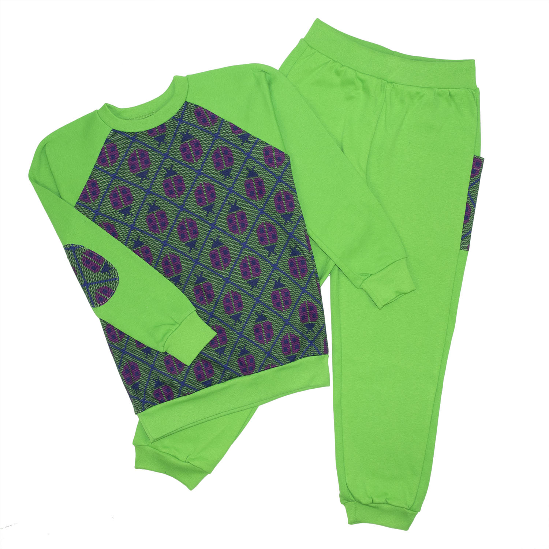 Спортивный костюм для девочек Юлла 482и цв. салатовый р.104