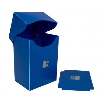 Пластиковая коробочка Blackfire вертикальная синяя, 80+ карт