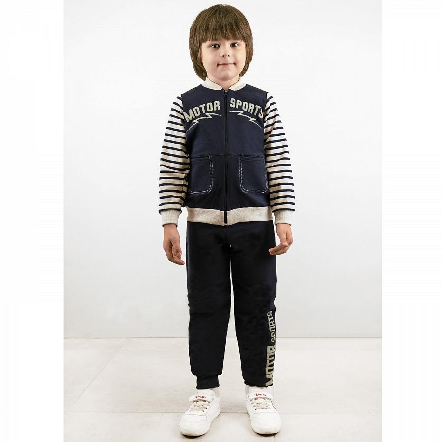 Спортивный костюм для мальчиков Юлла 843/848фд ап цв. темно-синий р.152