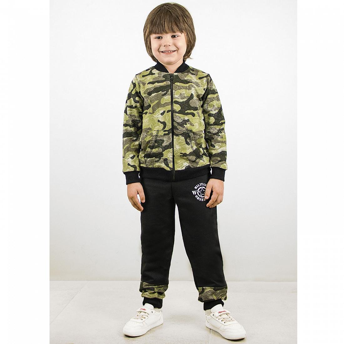 Спортивный костюм для мальчиков Юлла 920/990фд ап цв. зеленый  р.140