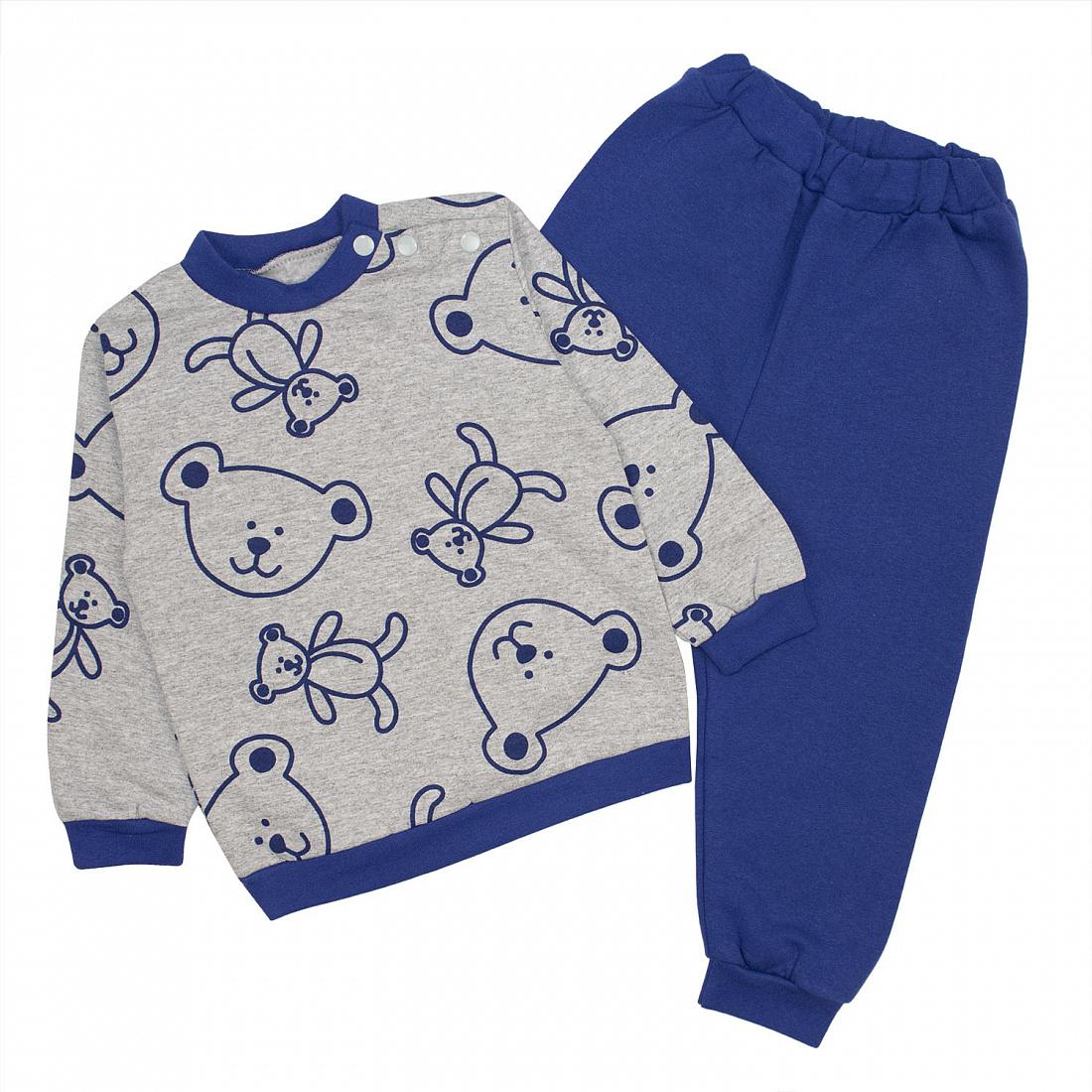 Спортивный костюм для мальчиков Юлла 351фд. цв. синий р.104