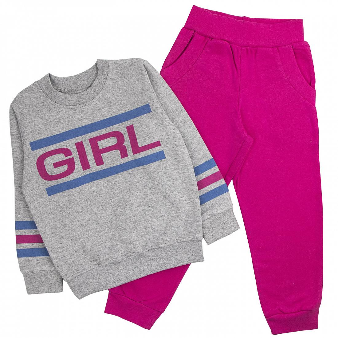 Спортивный костюм для девочек Юлла Girl 488ф цв. розовый р.104