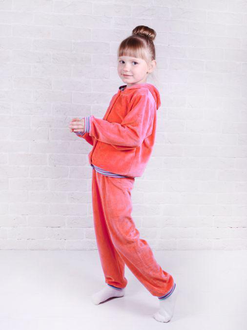 Спортивный костюм для девочек Юлла 095в цв. коралловый р.110