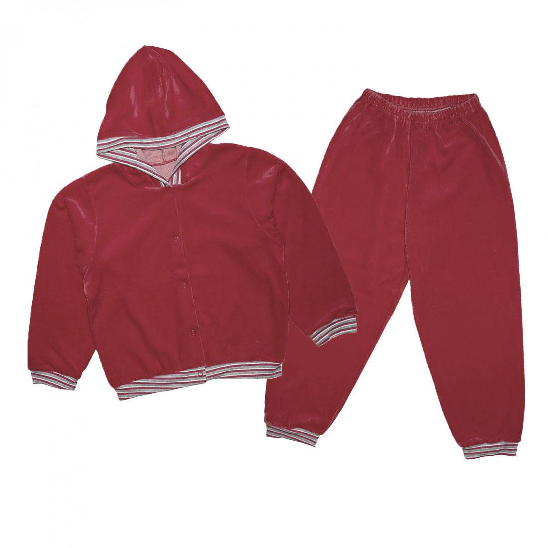 Спортивный костюм для девочек Юлла 095в цв. бордо р.104