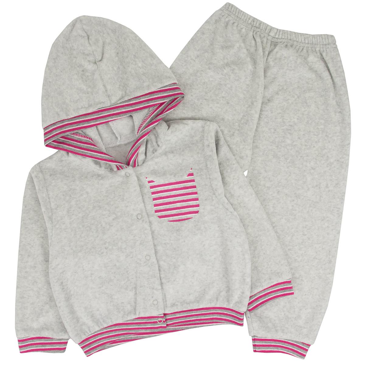 Спортивный костюм для девочек Юлла 095в ап цв. серый р.152