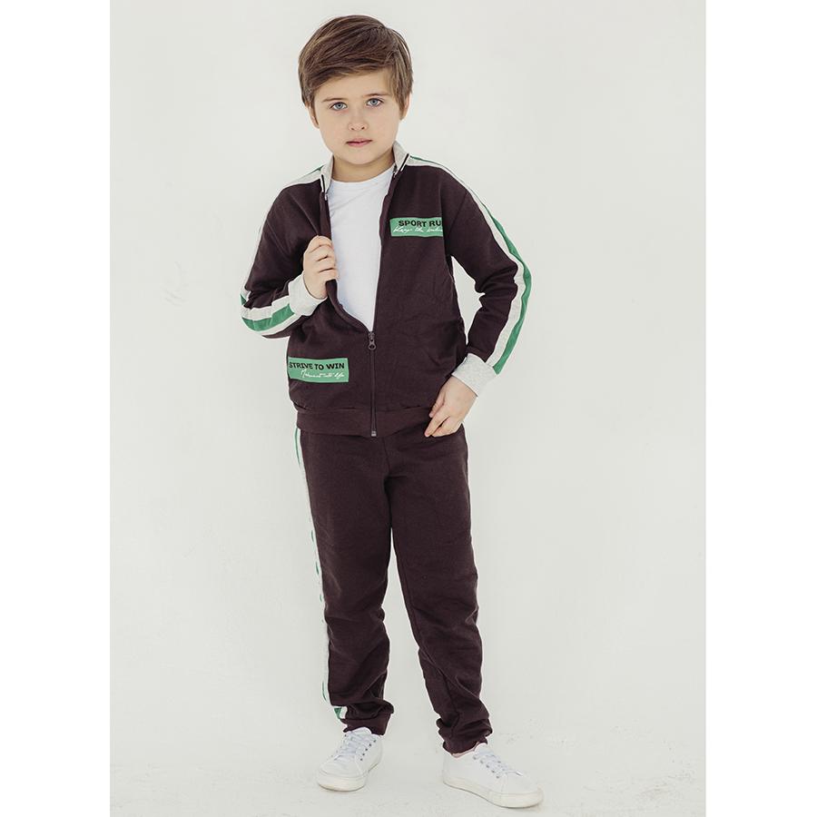 Спортивный костюм для мальчиков Юлла 867/863ф ап цв. зеленый  р.152