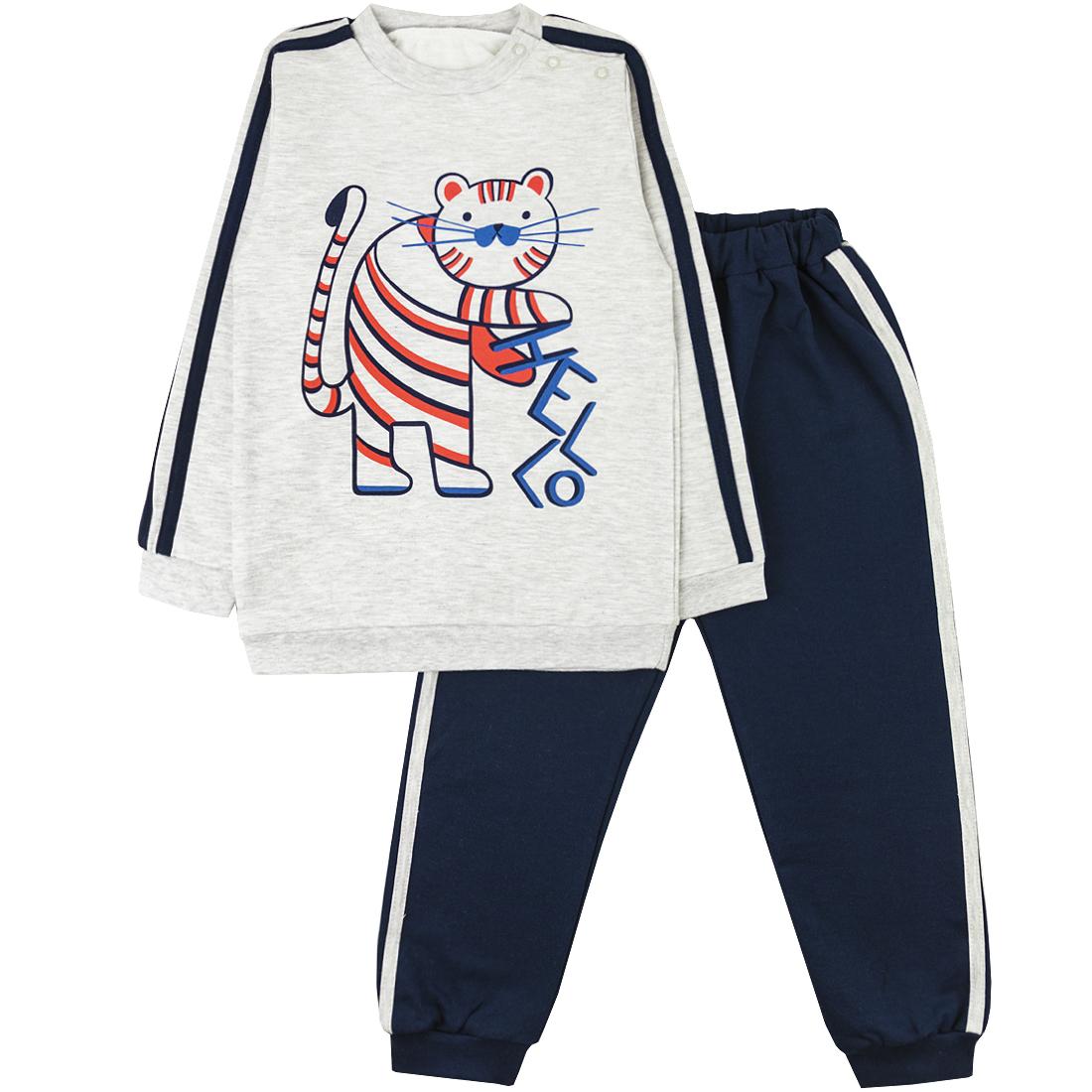 Спортивный костюм для мальчиков Юлла 274/2ф ап цв. темно-синий р.152