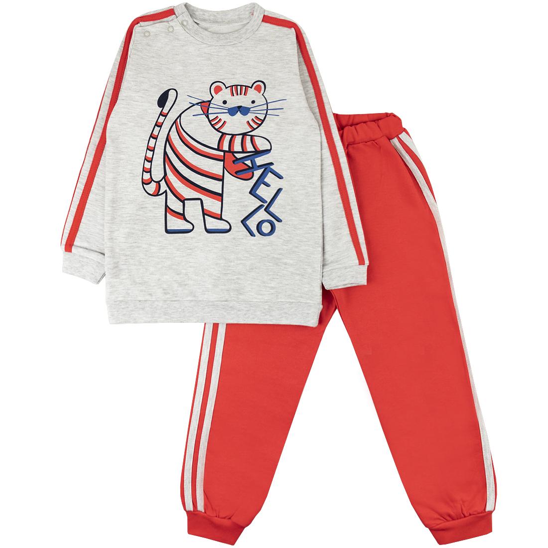 Спортивный костюм для девочек Юлла 274/2ф ап цв. красный р.104