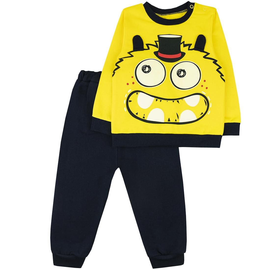 Спортивный костюм для мальчиков Юлла 1131/1013ф ап цв. желтый р.110