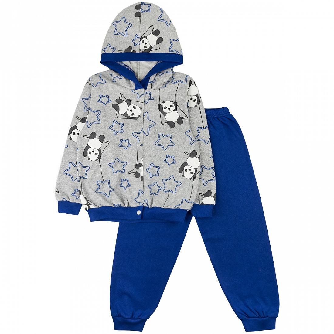 Спортивный костюм для девочек Юлла 352/2ф цв. синий р.152