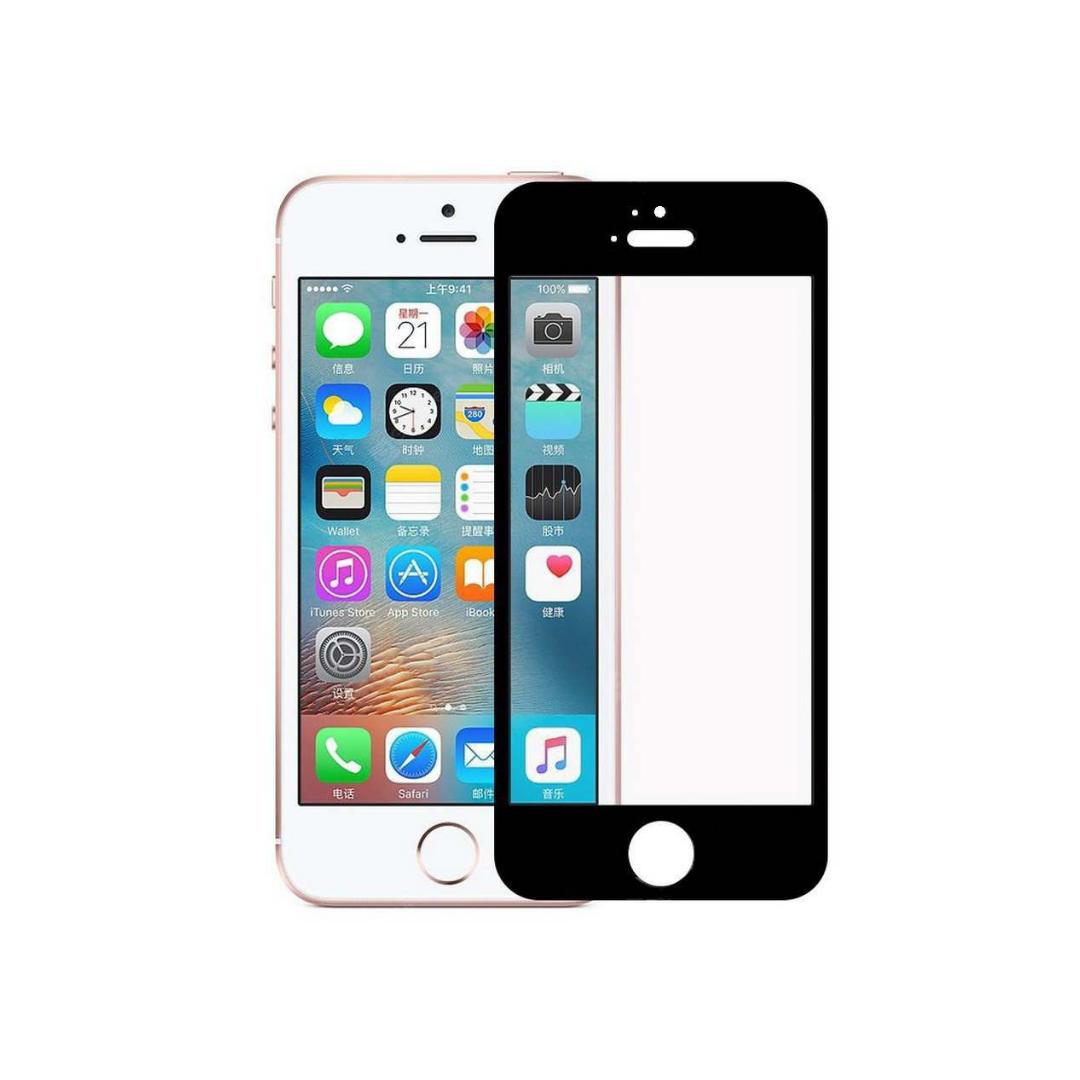 Защитное стекло Wewo для iPhone 5/5S/SE Full Glue с рамкой 2.5D (черное)