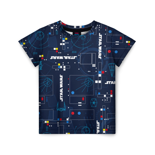 Купить 3D Star Wars - 1983633, Детская футболка ВсеМайки 3D Star Wars, размер 122, VseMayki.ru,