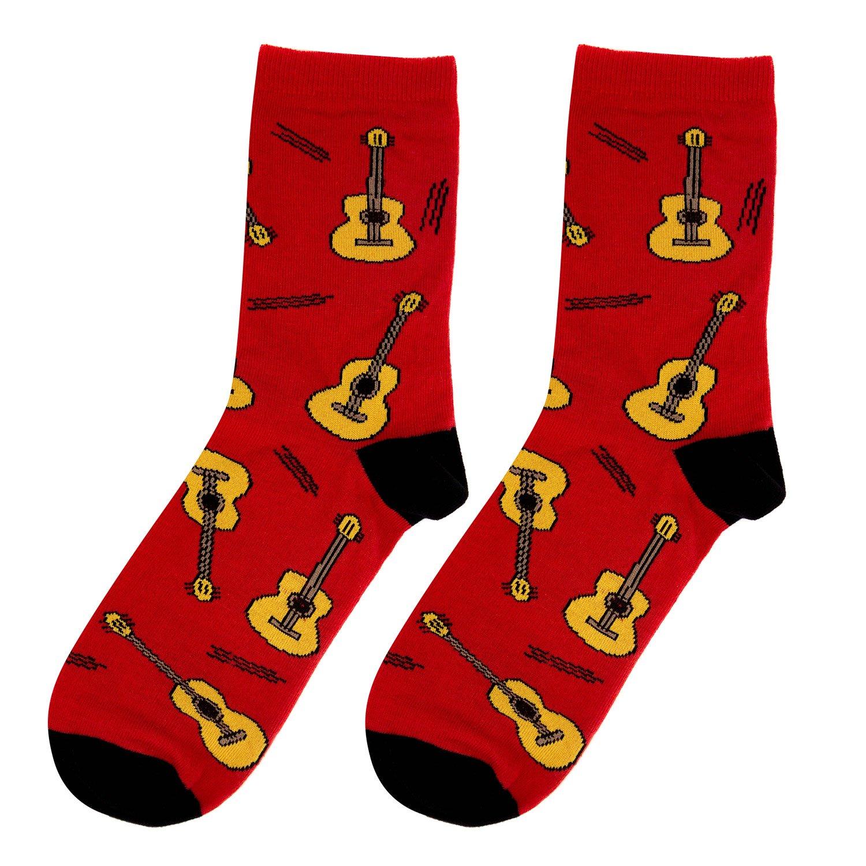 Носки женские Kawaii Factory Гитары красные 36-39