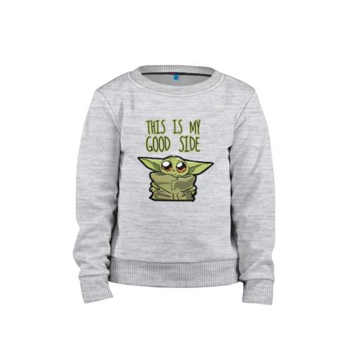 Детский свитшот ВсеМайки Child Yoda, р. 98
