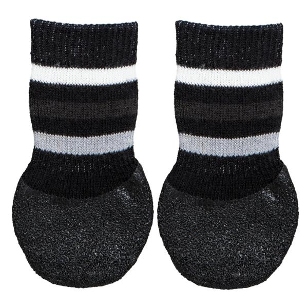 Носки для собак TRIXIE, нескользящие, хлопок/лайкра, черные,