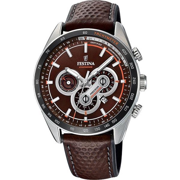 Наручные часы кварцевые мужские Festina F20202 коричневые