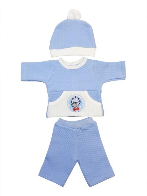 Комплект одежды для куклы Колибри голубой, белый 305