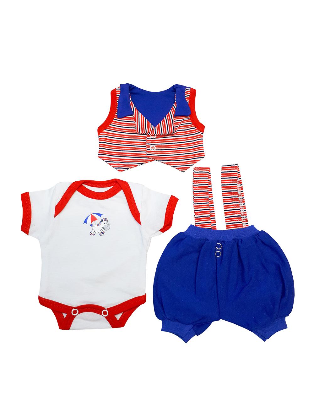 Комплект одежды для куклы Колибри красный, синий 304