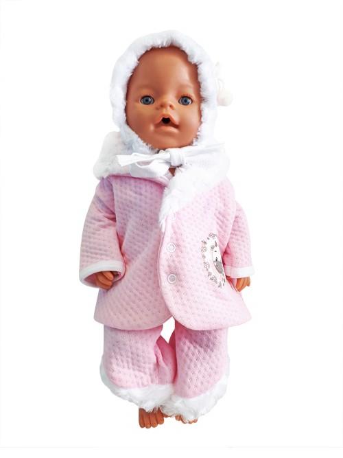 Комплект одежды для куклы Колибри розовый, белый 302