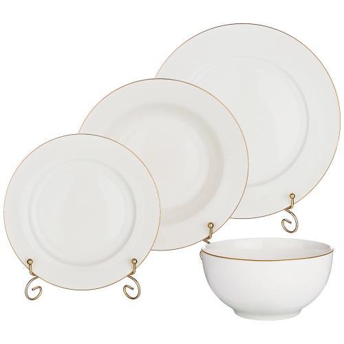 Набор столовой посуды Lefard, 24 предмета, белый