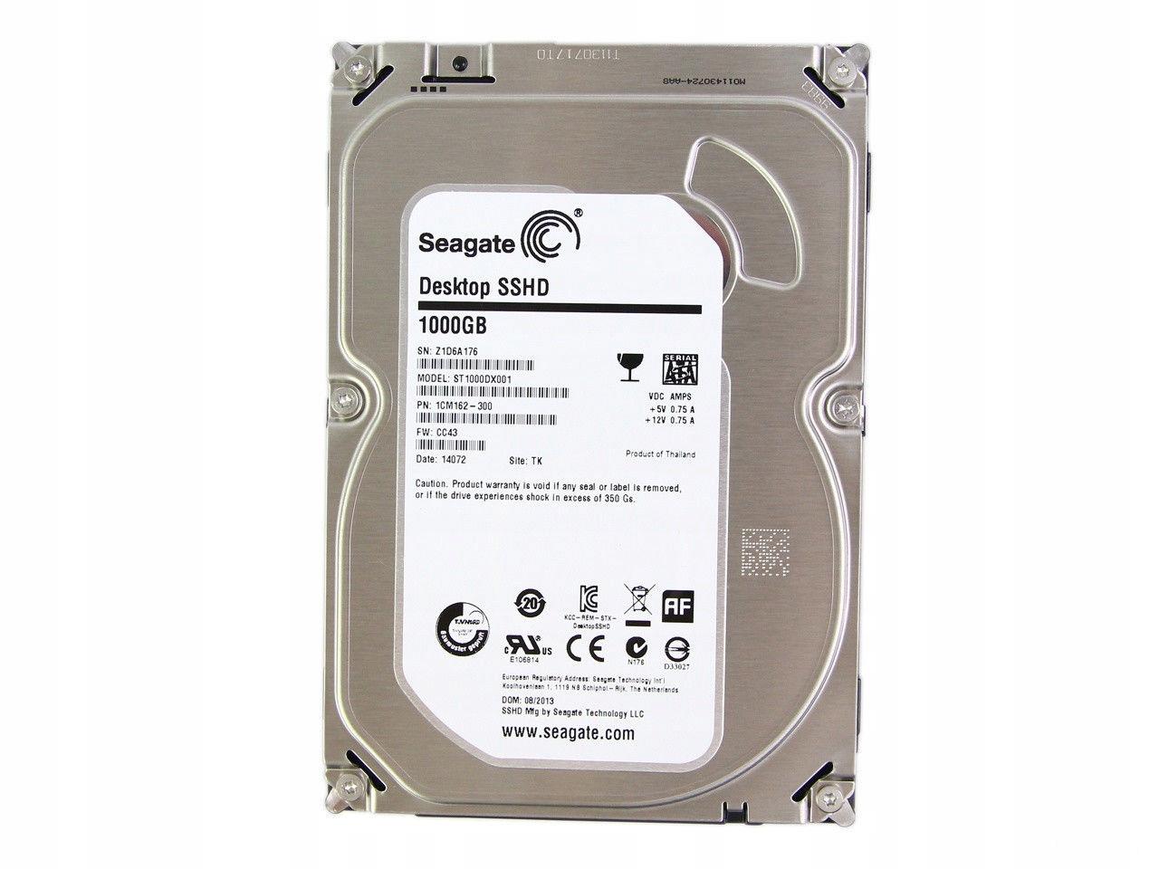 Внутренний жесткий диск Seagate 1Tb ST1000DX001