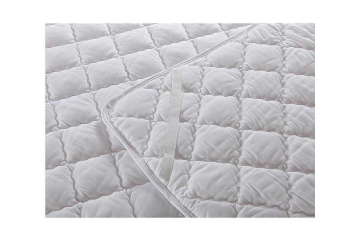 Наматрасник ЛЁН стёганый, микрофибра, 160x200 Sterling Home Textile