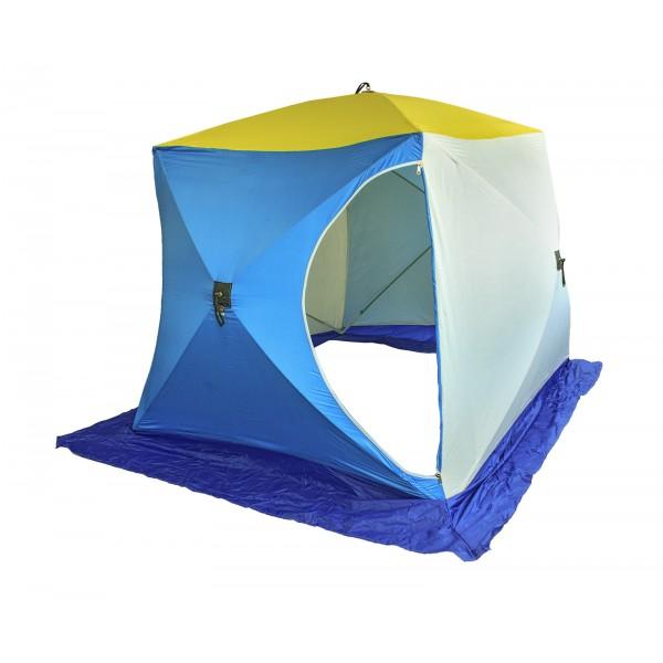 Палатка для рыбалки Стэк Куб 0072793 двухместная синяя