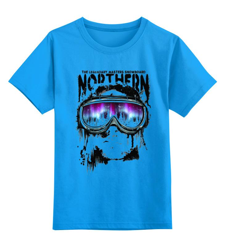 Купить 0000000737354, Детская футболка Printio Сноубордист цв.голубой р.116,