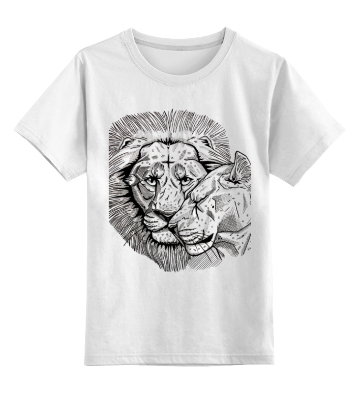 Купить 0000000737138, Детская футболка Printio Любовь цв.белый р.116,