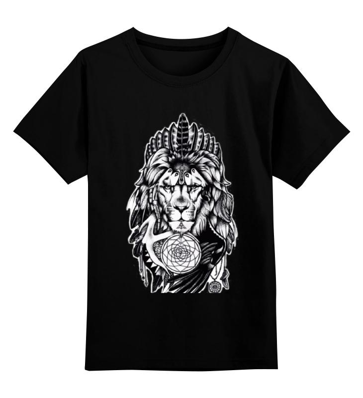 Купить 0000000736754, Детская футболка Printio The lion цв.черный р.116,