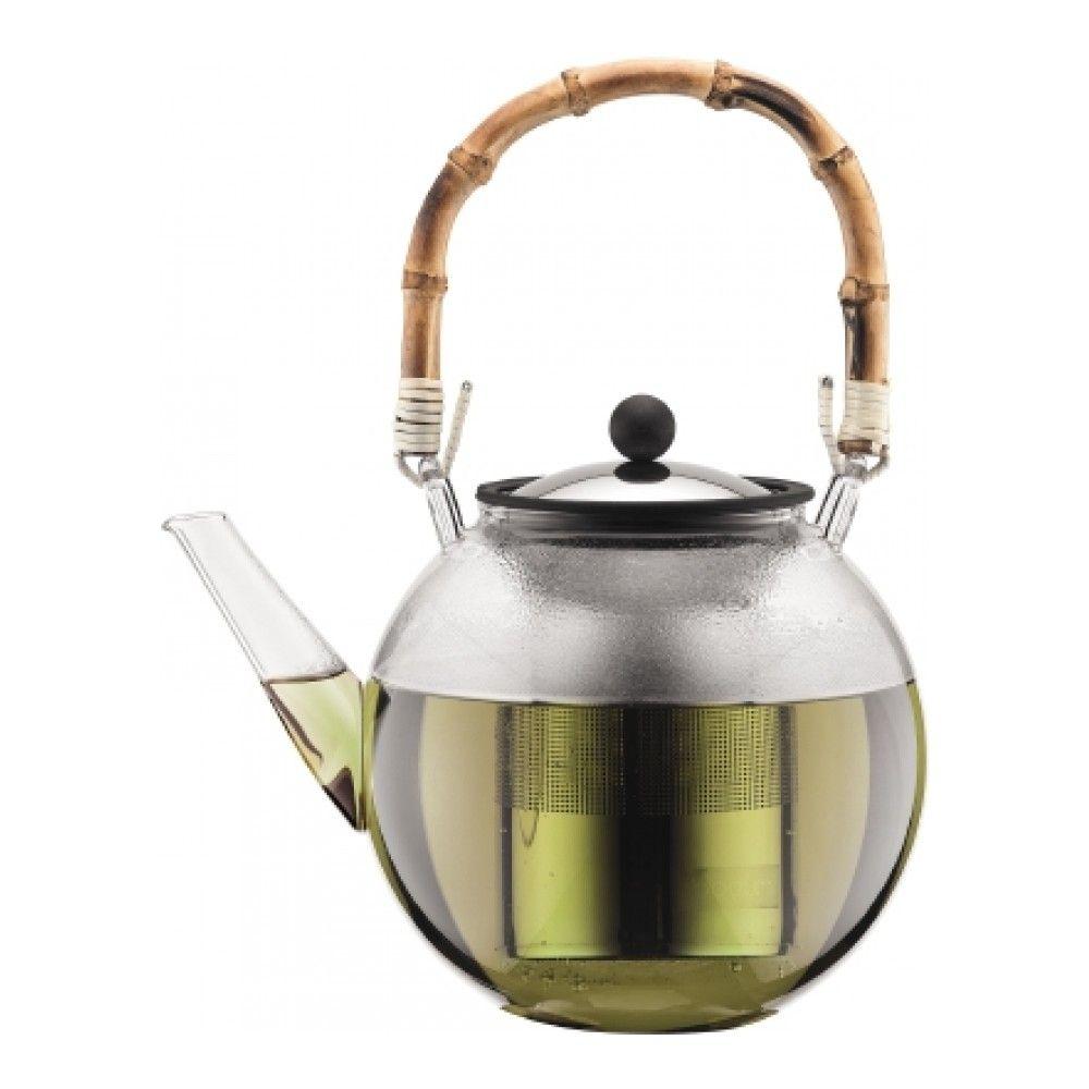 Заварочный чайник с прессом и бамбуковой ручкой BODUM Assam 1 л