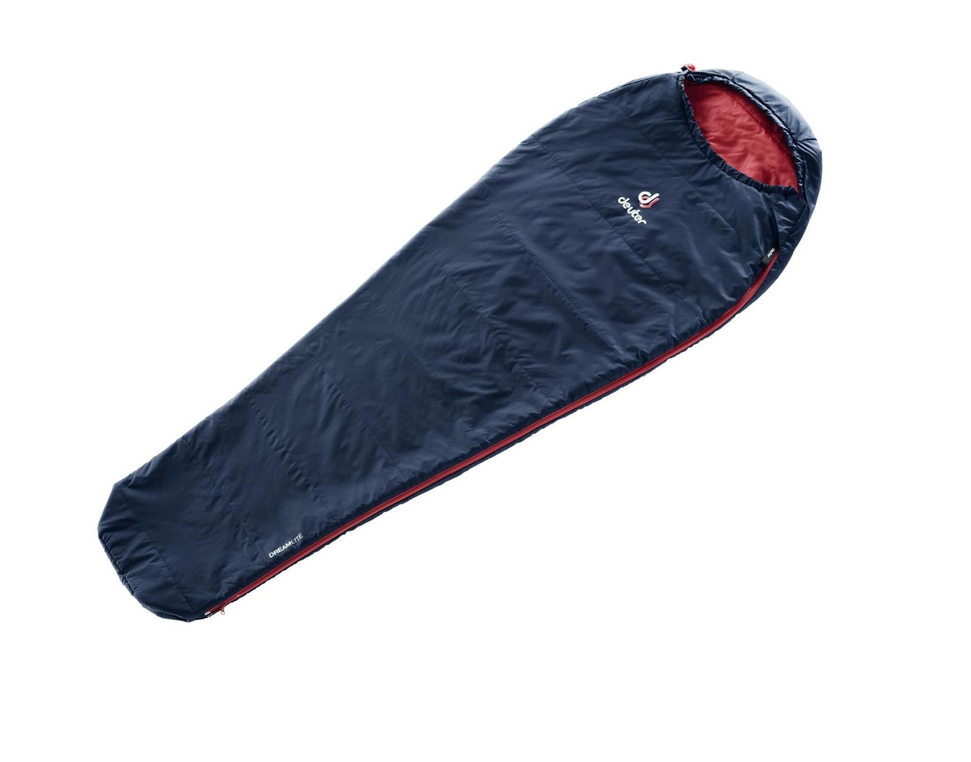 Спальный мешок Deuter Dreamlite L navy/cranberry, левый