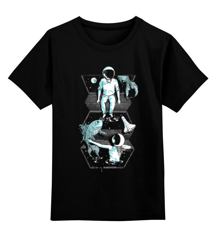 Детская футболка Printio Космос, рыбы цв.черный р.116 0000000728253 по цене 990