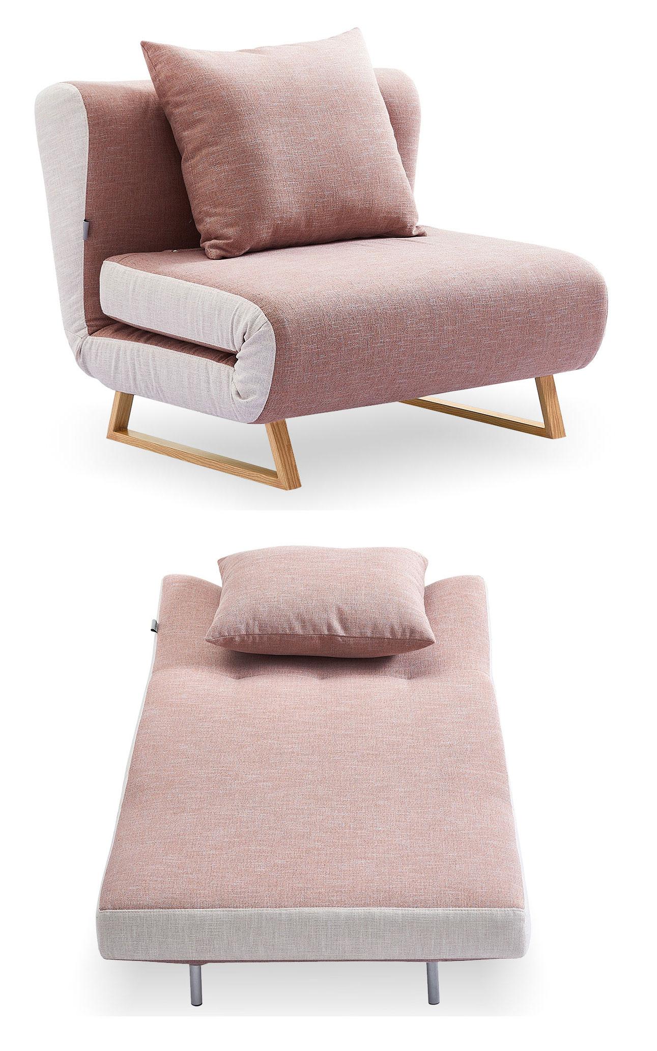 Кресло кровать Rosy, коралловый