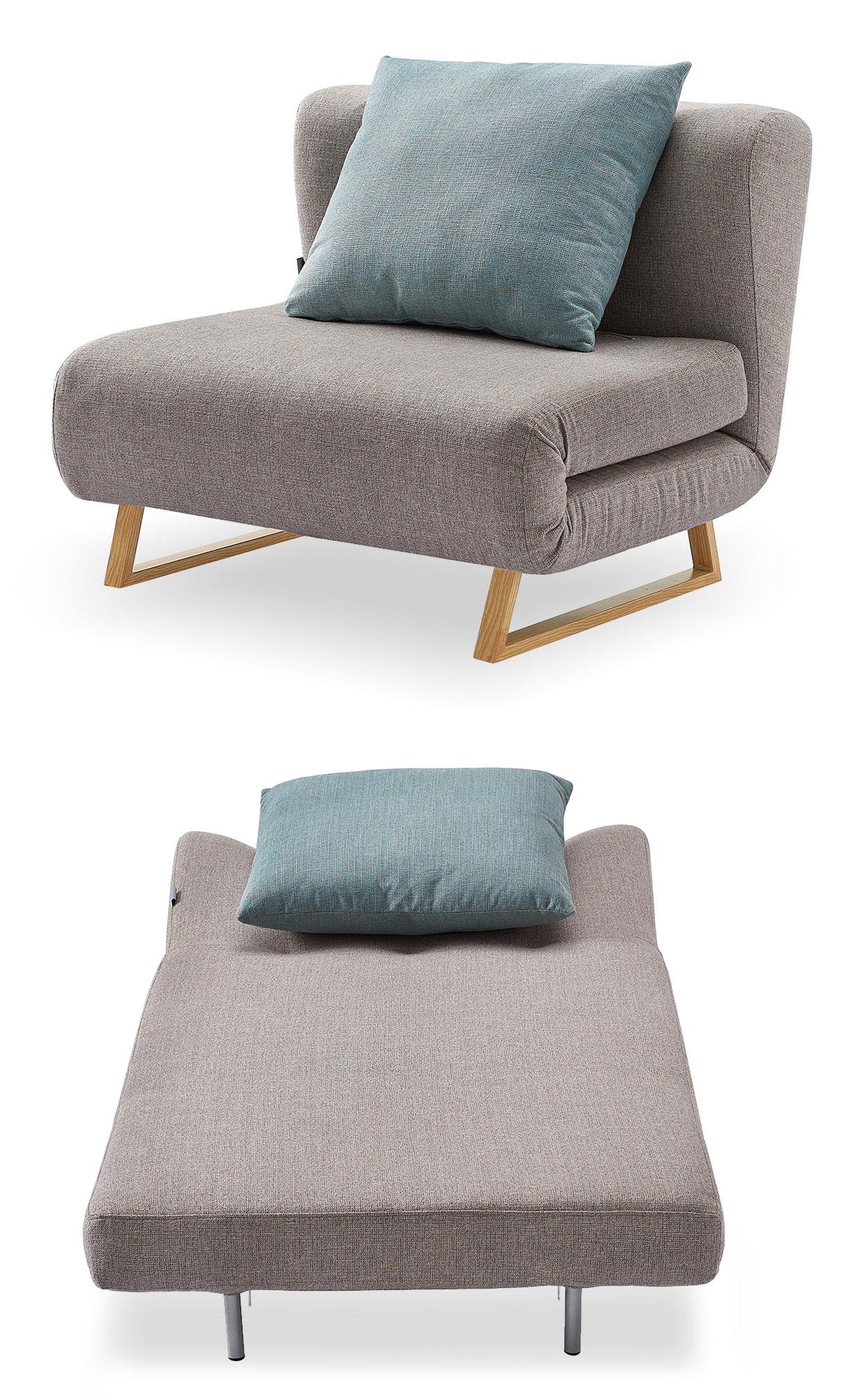 Кресло кровать Rosy, бежевый/мята