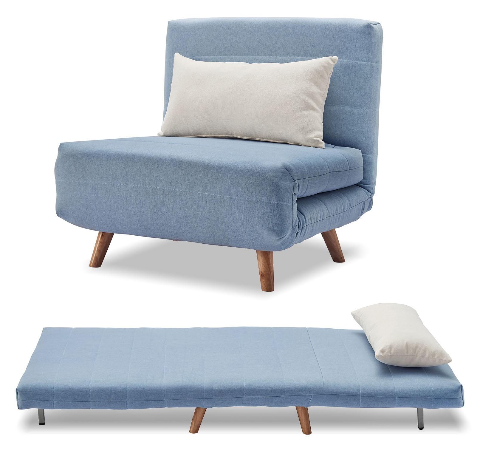 Кресло кровать Flex, голубой