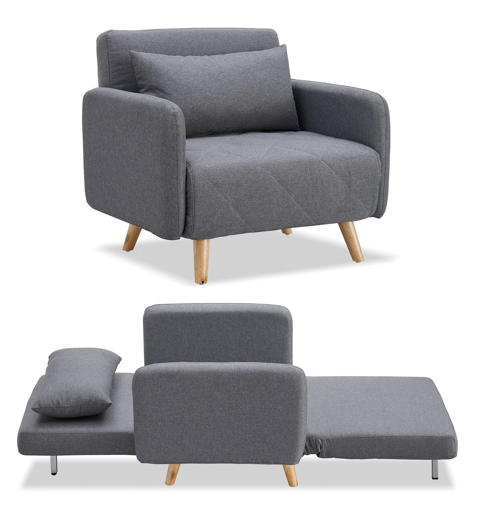 Кресло кровать Cardiff, темно серый