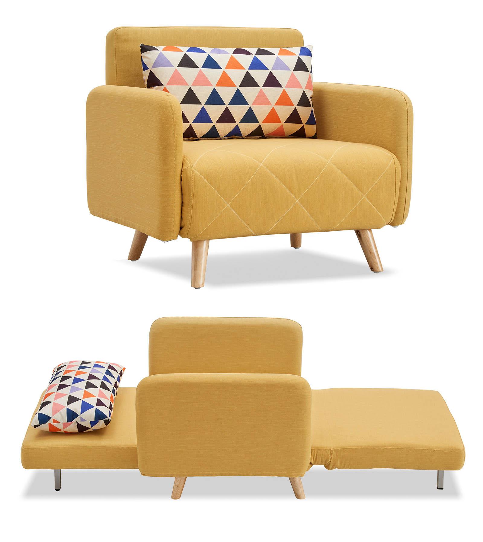 Кресло кровать Cardiff, желтый