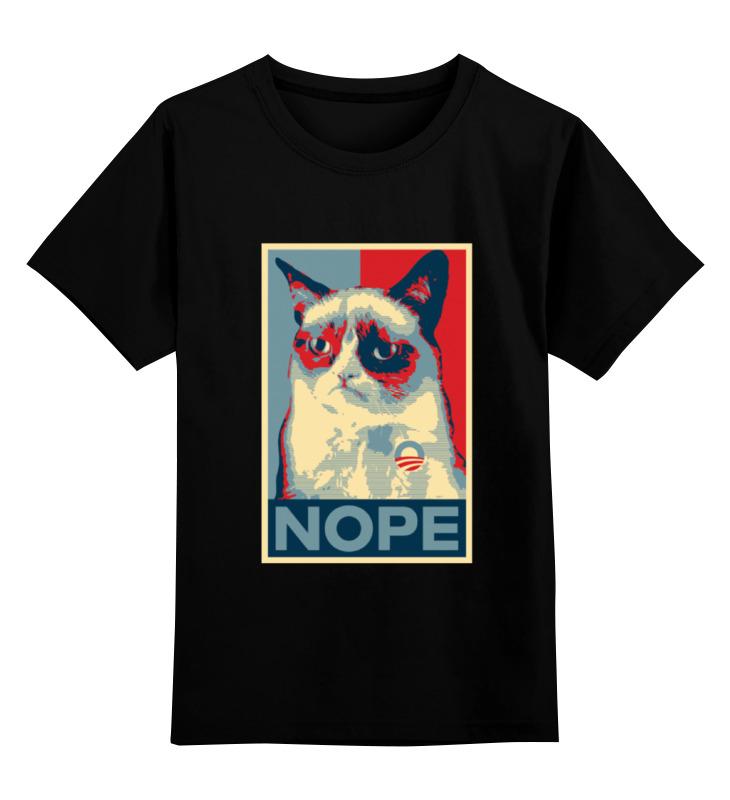 Детская футболка Printio Grumpy cat цв.черный р.128 0000000739545 по цене 990