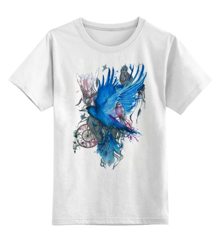 Купить 0000000737366, Детская футболка Printio Art zoo цв.белый р.128,
