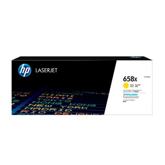 Картридж для лазерного принтера HP 658X (W2002X) желтый, оригинал