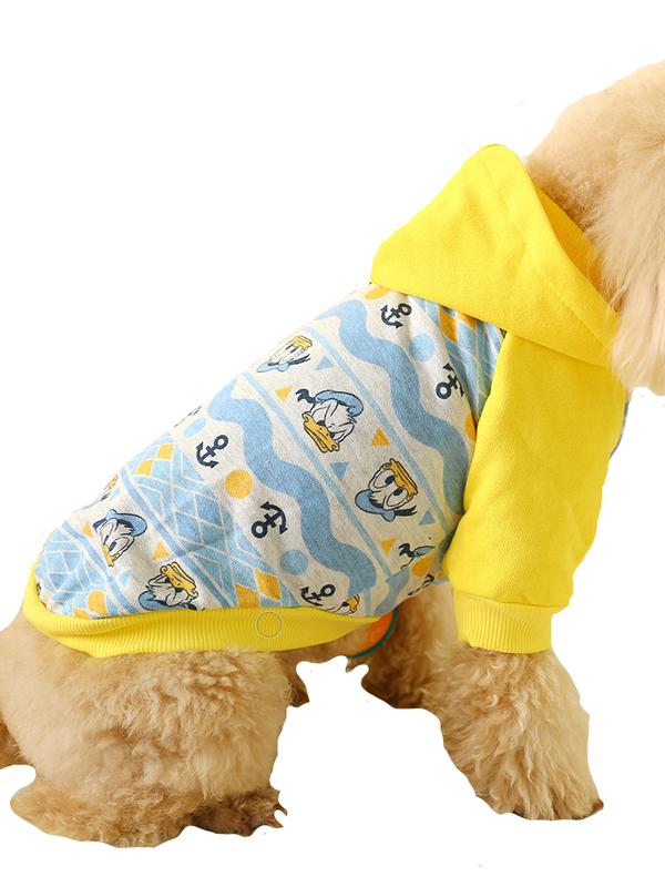 Футболка для собак Petcircle Якорь, унисекс, желтый,