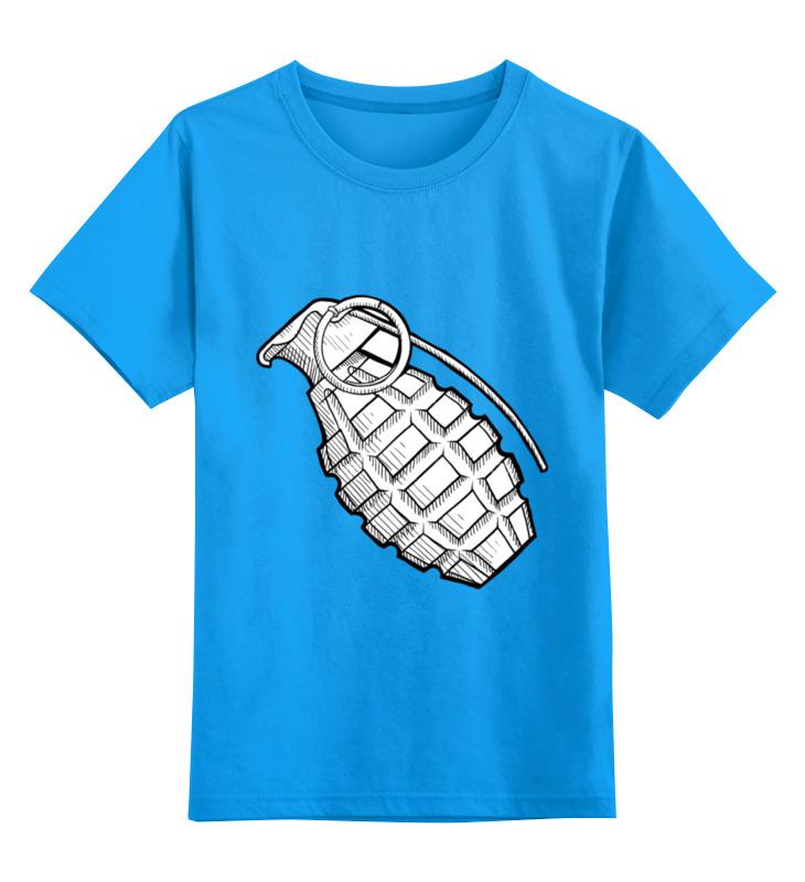 Детская футболка Printio Grenade цв.голубой р.128 0000000734533 по цене 990